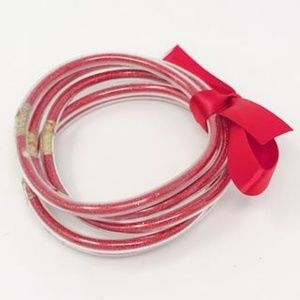 Jewelry - Metallic Tube Bracelet, Red